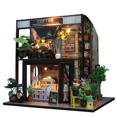 Oshide Puppenhaus Süß Haus DIY House mit Licht als Kinder Geschenk (Coffe Hause): Amazon.de: Spielzeug