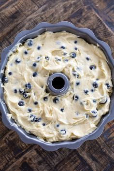 The Best Blueberry Bundt Cake - Baker by Nature - Leyla&BundtCake Nature Cake, Blueberry Bundt Cake Recipes, Pound Cake Recipes, Blueberry Sour Cream Cake, Easy Blueberry Desserts, Blueberry Muffin Cake, Blueberry Bread, Apple Cake Recipes, Food Cakes