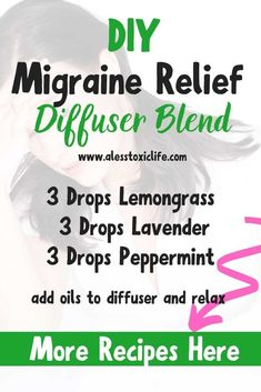 Effective And Easy Essential Oil Blends For Headaches DIY Migraine diffuser blend. Get relief for your headaches and migraines witn essential oils. - Essential Oil Diffuser - Ideas of Essential Oil Diffuser essential oils Essential Oils For Migraines, Essential Oils Guide, Doterra Essential Oils, Migraine Essential Oil Blend, Homemade Essential Oils, Essential Oils Cleaning, Essential Oil Combinations, Oil For Headache, Migraine Relief