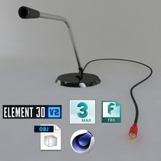Microphone1 3D Model .max .c4d .obj .3ds .fbx .lwo .stl @3DExport.com by sukruboyraz
