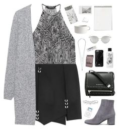 """""""My world is crushed now without you."""" by bomlion ❤ liked on Polyvore featuring Zara, Gianvito Rossi, Givenchy, Thierry Mugler, Jigsaw, Acne Studios, MANIAMANIA, Chicnova Fashion, Diptyque and Native Union"""