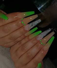 Aycrlic Nails, Bling Nails, Swag Nails, Manicure, Hot Nails, Summer Acrylic Nails, Best Acrylic Nails, Acrylic Nails Green, Uñas Kylie Jenner