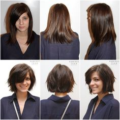 Another LIFE-CHANGING cut on one of our very own! She looks so modern and chic with her new bob. This is one way to start healthy and fresh for spring/summer!...