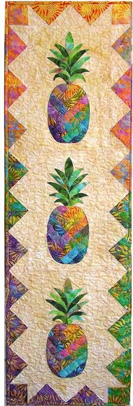 Patchwork Quilt Designs Table Runners 58 Ideas For 2019 Tropical Quilts, Hawaiian Quilts, Hawaiian Art, Batik Quilts, Applique Quilts, Scrappy Quilts, Small Quilts, Mini Quilts, Quilting Projects