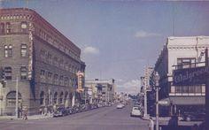 Looking West on Idaho Street, Boise, Idaho, 1950-60s