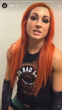 Becky Lynch, via WWE Snapchat