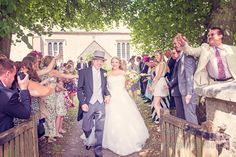 Wedding confetti at english country church wedding in Dorset. Photography by one thousand words wedding photographers