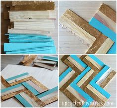 This looks SO easy! Now just to find a big, cool frame from the flea market!