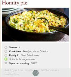 Homity  Pie Ingredients