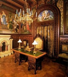 Neuschwanstein Castle, the study ~ Bavaria, Germany