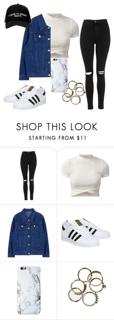 """""""Untitled #185"""" by charlotte-down on Polyvore featuring Topshop, Manolo Blahnik, adidas, women's clothing, women, female, woman, misses and juniors"""