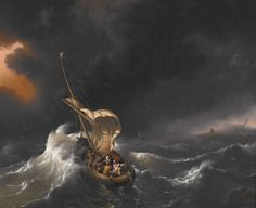 Backhuysen, Ludolf - Christ in the Storm on the Sea of Galilee - 1695 - Calming the storm - Wikipedia, the free encyclopedia