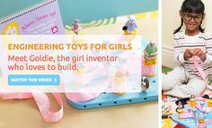 A female engineer from Stanford has invented a line of engineering toys for girls. Funded by thousands of supporters, GoldieBlox gets girls involved in building by incorporating story books into the engineering process. Awesome.