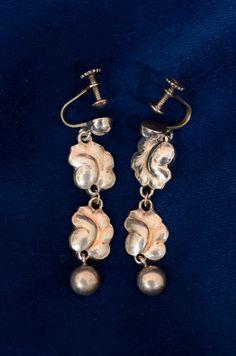 Georg Jensen Earrings, Vintage
