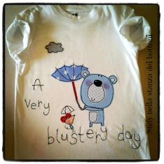 T-shirt bimbo freemotion/applique