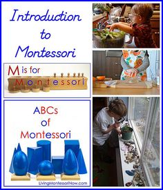 Posts with an overview of Montessori education and Montessori at home plus Montessori and Montessori-Inspired Blog Hop