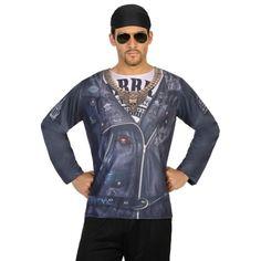 Shirt met lange mouwen en 3D biker print. Met dit shirt lijkt het net of je een complete biker outfit draagt! Het shirt is one size, maat M/L, en gemaakt van 100% polyester. Accessoires zijn los verkrijgbaar in onze webshop.