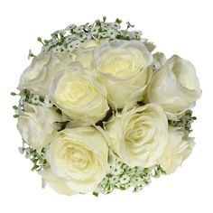 #White #Roses and #Baby's #Breath #ArtificialFlowers #Australia <<>> http://www.countryaccentfloralboutique.com/