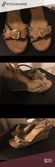 Aerosoles Green and Cami Wedge Aerosoles Green and Cami Wedge (new shoe never worn) AEROSOLES Shoes Wedges