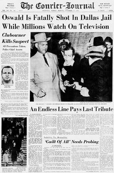 Newspaper Front Pages, Vintage Newspaper, Kennedy Assassination, John Kennedy, Interesting History, Jfk, American History, Gallery, Memories