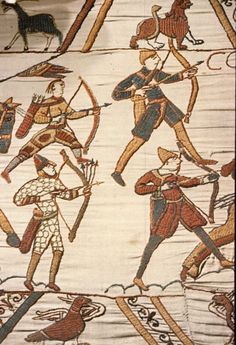 Archers with quivers depicted in the medieval Bayeux Tapestry.