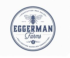An extensive collection of minimal logo designs, modern logo design, cool logo designs and much more. We have plenty of corporate logo design inspiration. Vintage Logo Maker, Western Logo, Logo Bee, Honey Logo, Diy Screen Printing, Agriculture Logo, Minimal Logo Design, Farm Logo, Badge Logo