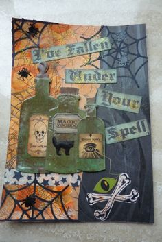 Halloween art journal page