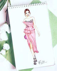 Fashion design sketches dresses watercolors Ideas for 2019 Dress Design Drawing, Dress Design Sketches, Fashion Design Sketchbook, Fashion Design Drawings, Dress Drawing, Fashion Sketches, Fashion Drawing Dresses, Fashion Illustration Dresses, Dress Illustration