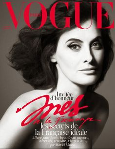 That's Not My Age: Ines de la Fressange on the Christmas cover of French Vogue