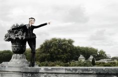 Jessica Stam by Karl Lagerfeld for Harper's Bazaar