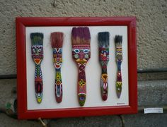 This would be a perfect project to make & then display in Katie's room!  Don't throw those old paint brushes away!