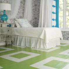 14 Amazing Painted Floors (that you can do, too)