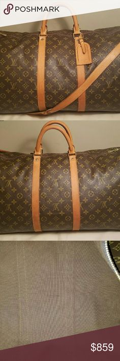 Louis Vuitton Keepall Bandouliere 55 In excellent condition. No rips tears or stains. Comes with luggage tag. Better price elsewhere. Bags Travel Bags