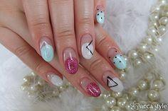 Modern art.  Nail. Manicure.