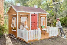Cabane en bois pour enfant avec terrasseCAMPO