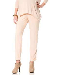 Destination Maternity Isabella Oliver Under Belly Linen Tie Detail Wide Leg Maternity Pants