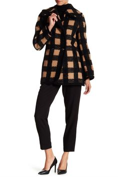 Hope Plaid Wool Blend Coat by trina Trina Turk on @HauteLook