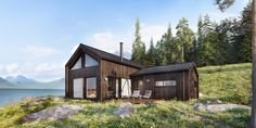 Sande Hus og Hytter AS – Seterstuggu – Hazir Site Exterior, Cabin, Architecture, House Styles, Home Decor, Modern, Simple, Arquitetura, Decoration Home