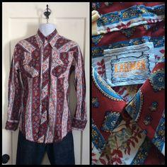 A personal favorite from my Etsy shop https://www.etsy.com/listing/220796349/vintage-karman-western-cowboy-mens-shirt