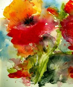 Iceland Poppy Painting by Anne Duke - Iceland Poppy Fine Art Prints and Posters for Sale
