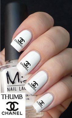 Chanel Nail Decals browning by DesignerNails on Etsy, $3.95