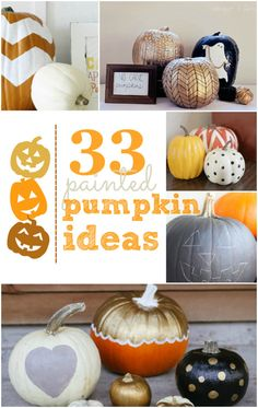 33 amazing painted pumpkin ideas, no carving required! Betsey be ready for this craft project when you get to NC....