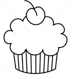 Cupcake template for Premium Page Applique Templates, Applique Patterns, Applique Quilts, Applique Designs, Owl Templates, Felt Patterns, Template Cupcake, Crown Template, Heart Template