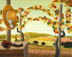 Dopo la vendemmia, acrilico su tela, 40x50 cm Painting, Tela, Atelier, Painting Art, Paintings, Painted Canvas, Drawings