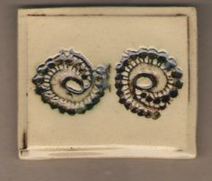 Handmade tile with spiral design by Bella Odendaal Handmade Tiles, Spiral, Crochet Earrings, Jewelry, Design, Fashion, Moda, Jewlery, Jewerly