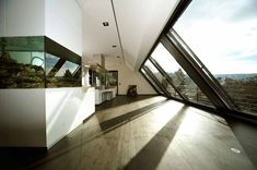 Panorama Dachfenster in Stuttgart (Objekt Panorama roof window in Stuttgart (object Roof Extension, Roof Window, Roof Architecture, House Roof, Metal Roof, Future House, Interior And Exterior, Interior Design, Construction