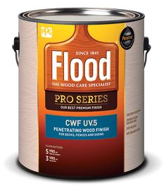 Flood® Flood® CWF-UV®5 Clear Wood Finish is an advanced formulation that protects wood from the inside out. It guards against moisture and sun damage while adding a slight hint of color.