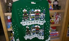 1980s Christmas sweat shirt... Full double sided print!