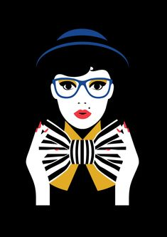 Vector Artwork- I really love the style of this piece and how quirky the girl…