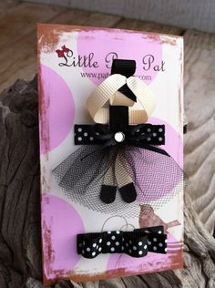 Graceful Little Dancer Ballerina Ribbon Sculpture in by patyg13, $7.00